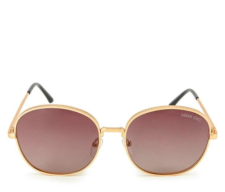 Polarized Retro Vintage Sunglasses - Brown Gold