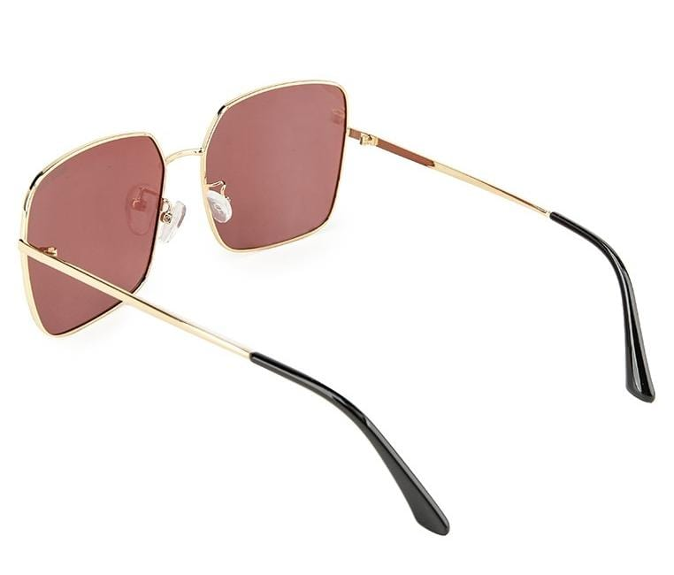 Polarized Retro Square Sunglasses - Red Gold Sunglasses - Urban State Indonesia