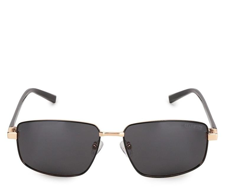 Polarized Sporty Slim Sunglasses - Black Gold