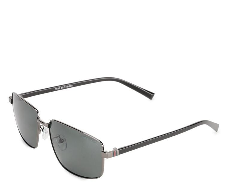 Polarized Sporty Slim Sunglasses - Black Silver Sunglasses - Urban State Indonesia