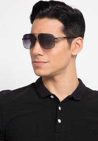Polarized Barstow Aviator Sunglasses - Black Black Sunglasses - Urban State Indonesia
