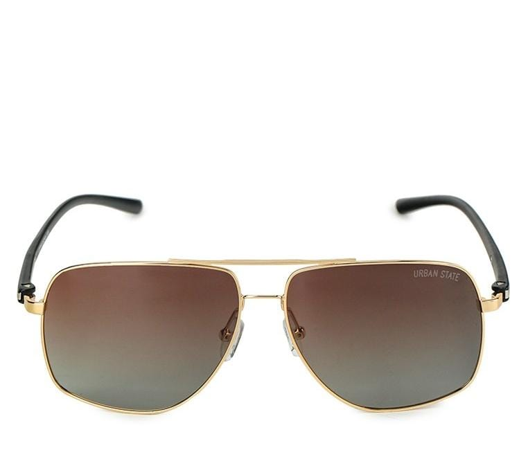 Polarized Barstow Aviator Sunglasses - Brown Gold Sunglasses - Urban State Indonesia