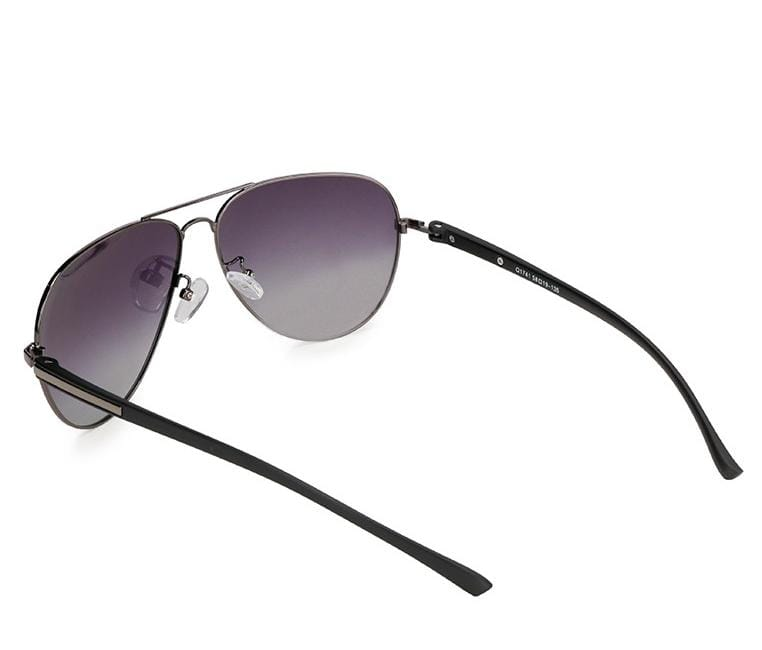 Polarized Modern Slim Aviator Sunglasses - Black Silver Sunglasses - Urban State Indonesia