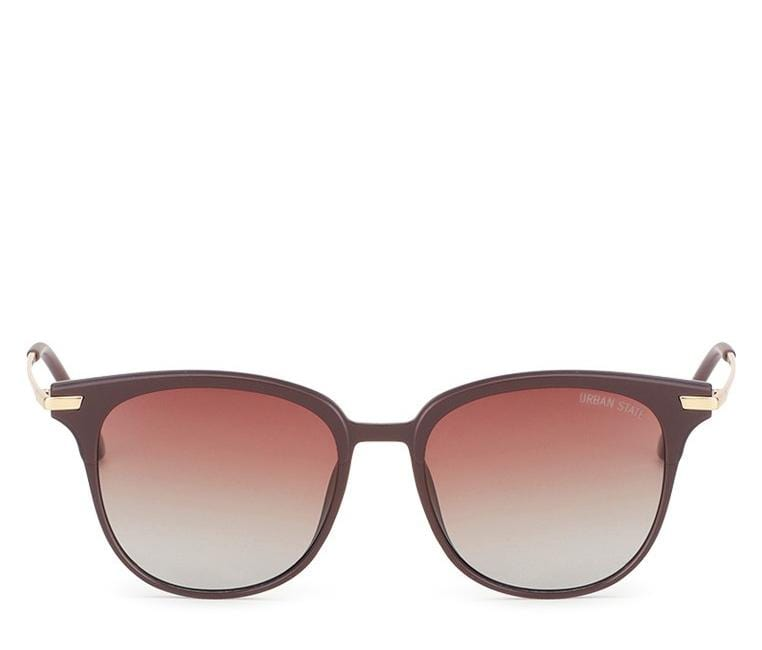 Polarized Vintage Square Sunglasses - Brown Matte Sunglasses - Urban State Indonesia