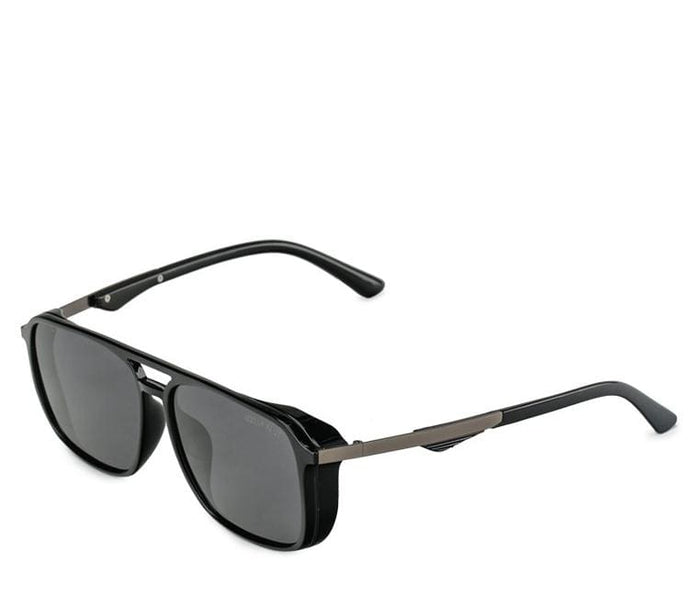 Polarized Oversized Barstow Aviator Sunglasses - Black Glossy