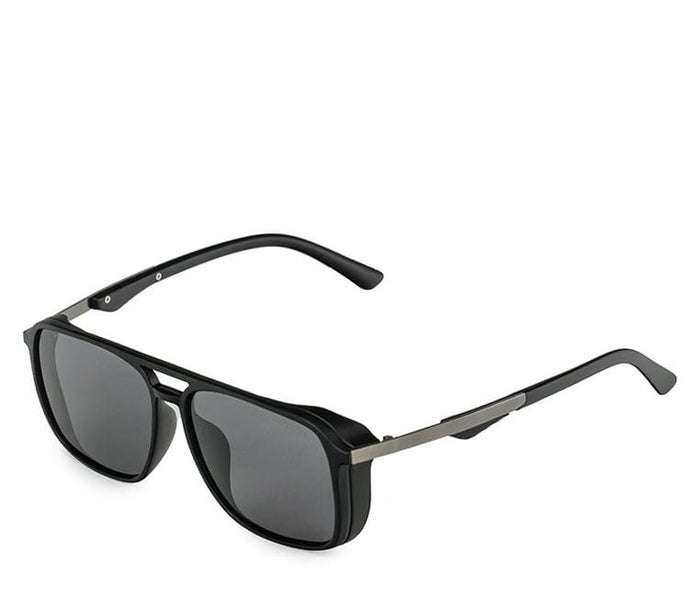 Polarized Oversized Barstow Aviator Sunglasses - Black Matte