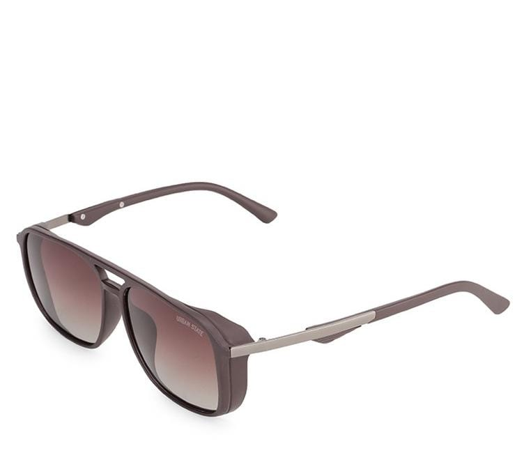 Polarized Oversized Barstow Aviator Sunglasses - Brown Matte