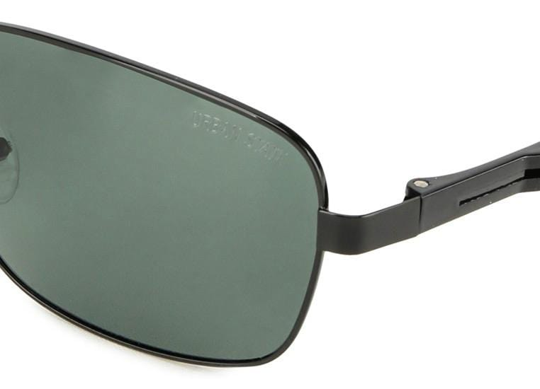 Polarized Rectangular Curved Sunglasses  - Green Black Sunglasses - Urban State Indonesia