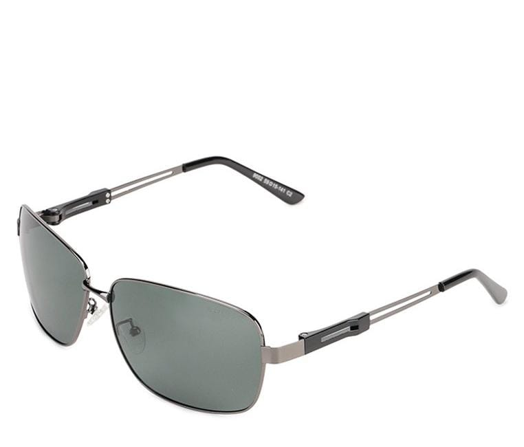 Polarized Rectangular Curved Sunglasses  - Green Silver Sunglasses - Urban State Indonesia