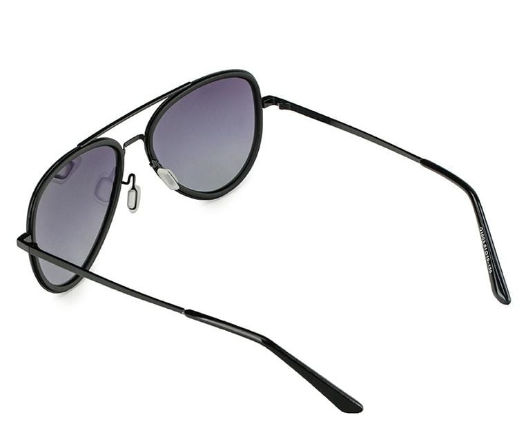 Polarized Flight Aviator Sunglasses - Black Matte