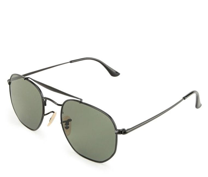 Edge Round Aviator Sunglasses - Green  Black Sunglasses - Urban State Indonesia