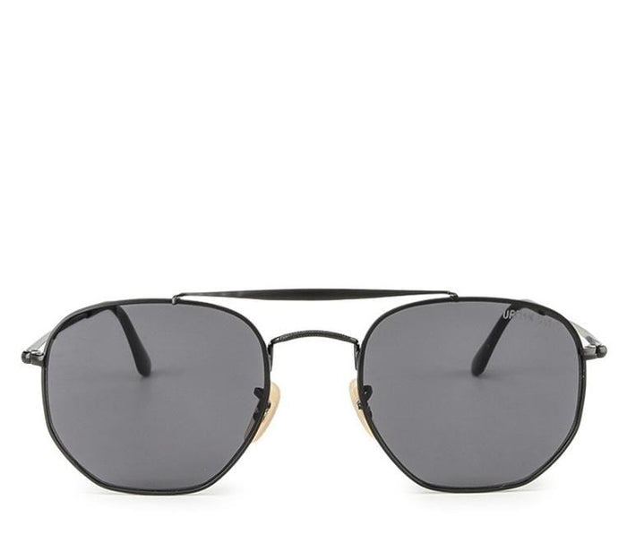 Edge Round Aviator Sunglasses - Black Black Sunglasses - Urban State Indonesia