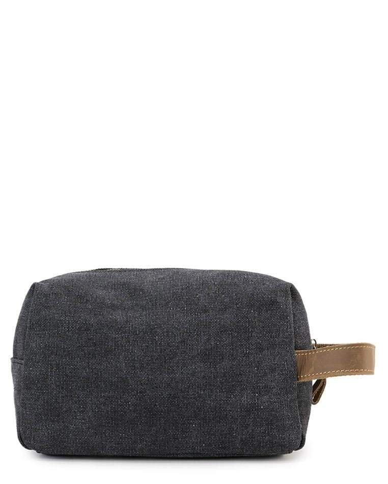 Canvas Top Grain Boxy Pouch - Black Messenger Bags - Urban State Indonesia