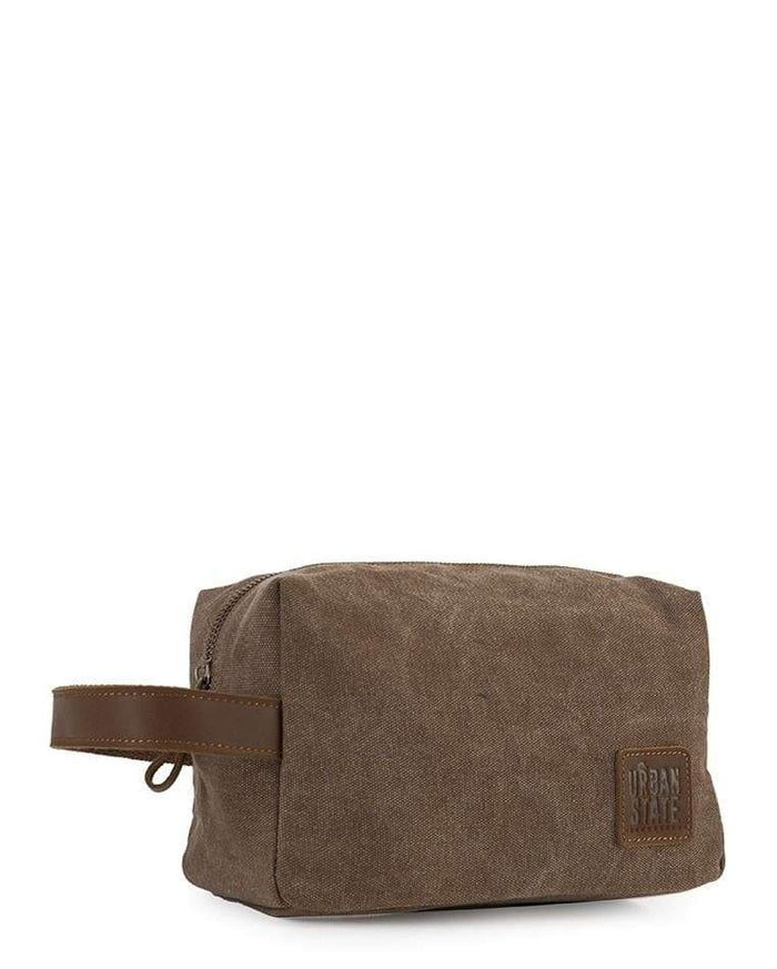 Canvas Top Grain Boxy Pouch - Camel Messenger Bags - Urban State Indonesia