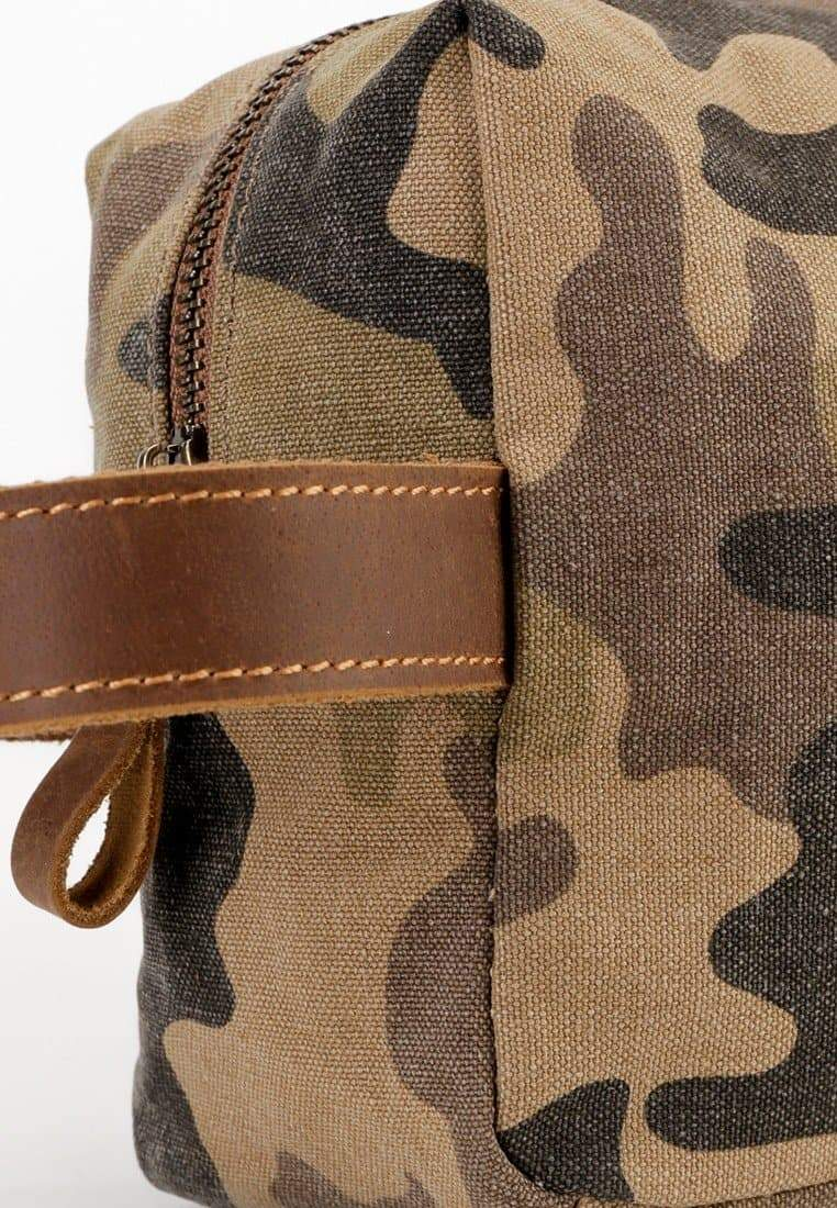 Canvas Top Grain Boxy Pouch -  Khaki Messenger Bags - Urban State Indonesia