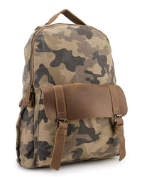 Canvas Top Grain Buckle Backpack - Khaki Backpacks - Urban State Indonesia