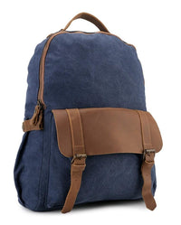 Canvas Top Grain Buckle Backpack - Navy Backpacks - Urban State Indonesia