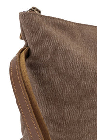 Canvas Top Grain Pouch Clutch - Camel Messenger Bags - Urban State Indonesia