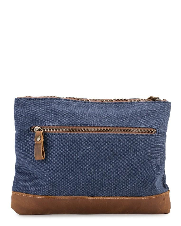 Canvas Top Grain Pouch Clutch - Navy Messenger Bags - Urban State Indonesia
