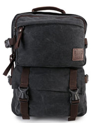 Canvas PU Field Backpack - Black Backpacks - Urban State Indonesia