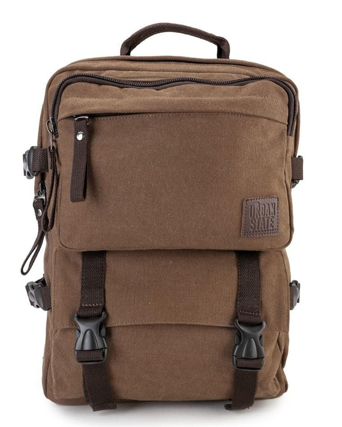 Canvas PU Field Backpack - Brown Backpacks - Urban State Indonesia