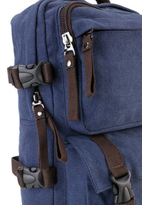 Canvas PU Field Backpack - Navy Backpacks - Urban State Indonesia