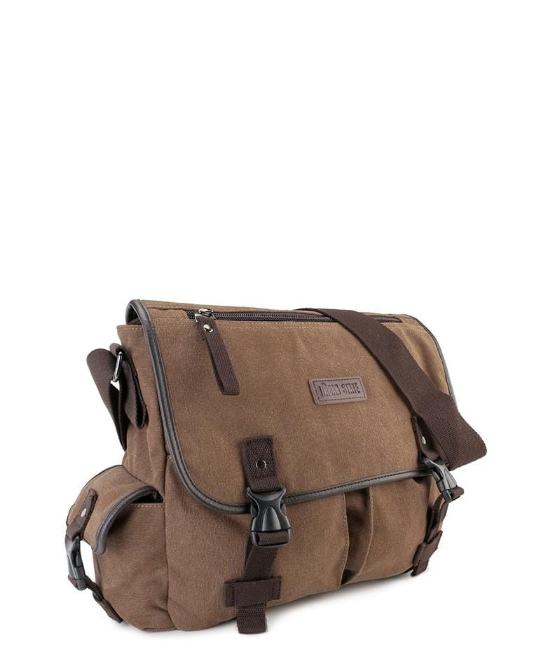 Canvas PU Field Messenger Bag - Brown Messenger Bags - Urban State Indonesia