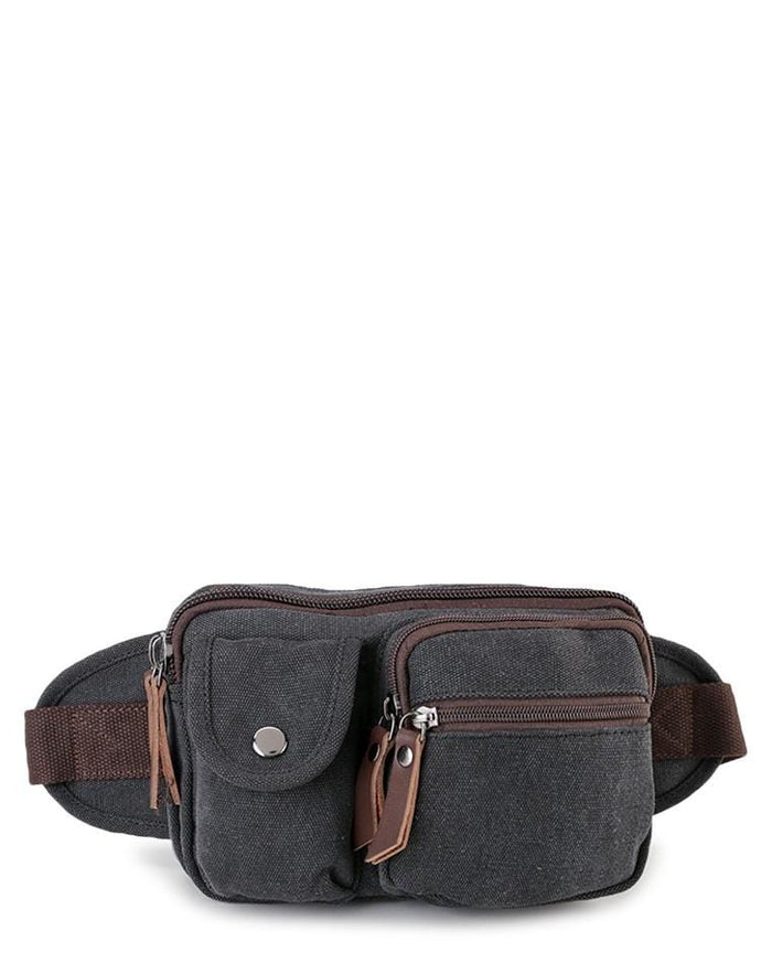 Canvas PU Field Waistpack - Black Waist Packs - Urban State Indonesia