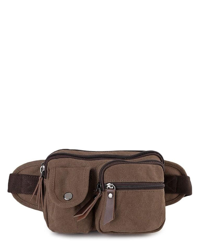 Canvas PU Field Waistpack - Brown Waist Packs - Urban State Indonesia