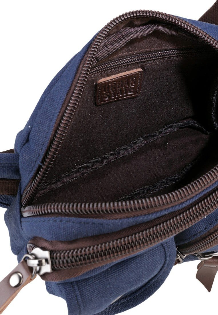 Canvas PU Field Waistpack - Navy Waist Packs - Urban State Indonesia