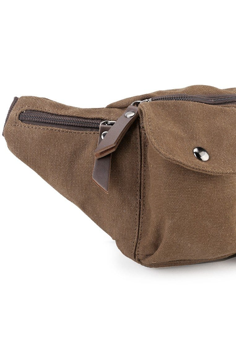 Canvas PU Utility Waistpack - Brown Waist Packs - Urban State Indonesia