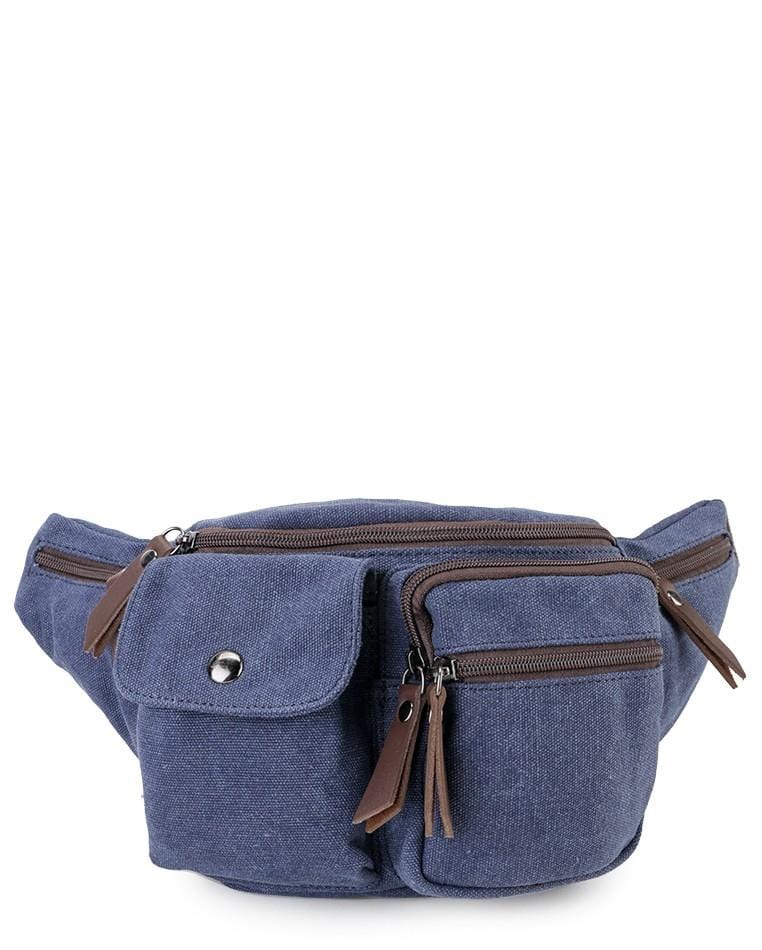 Canvas PU Utility Waistpack - Navy Waist Packs - Urban State Indonesia
