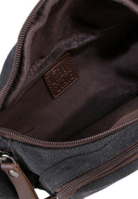 Canvas PU Zipper Ring Waistpack - Black Waist Packs - Urban State Indonesia