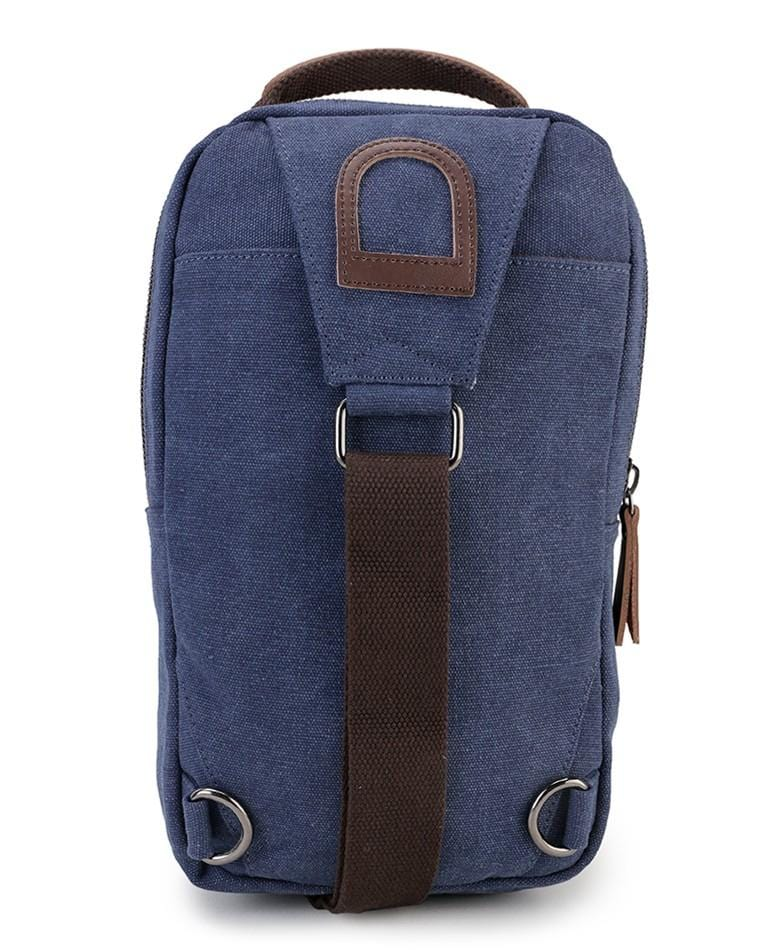 Canvas PU Panel Slingbag - Navy Slingbags - Urban State Indonesia