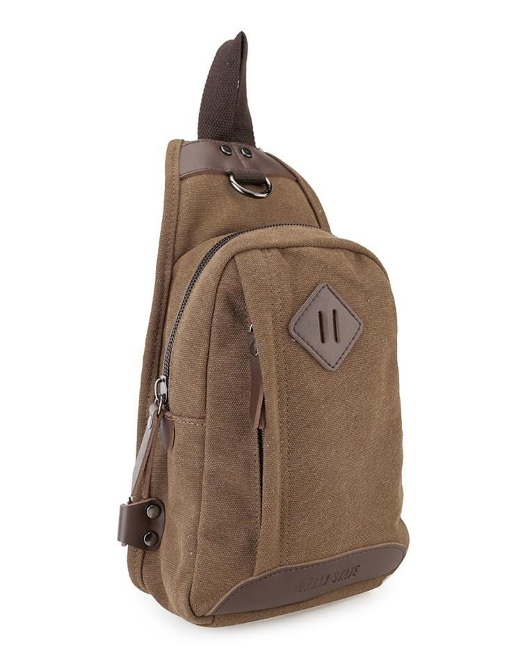 Canvas PU Original Slingbag - Brown Slingbags - Urban State Indonesia