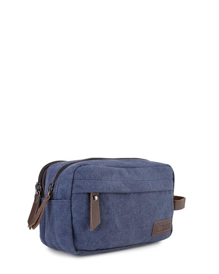 Canvas PU Zipper Pouch - Navy Clutch - Urban State Indonesia