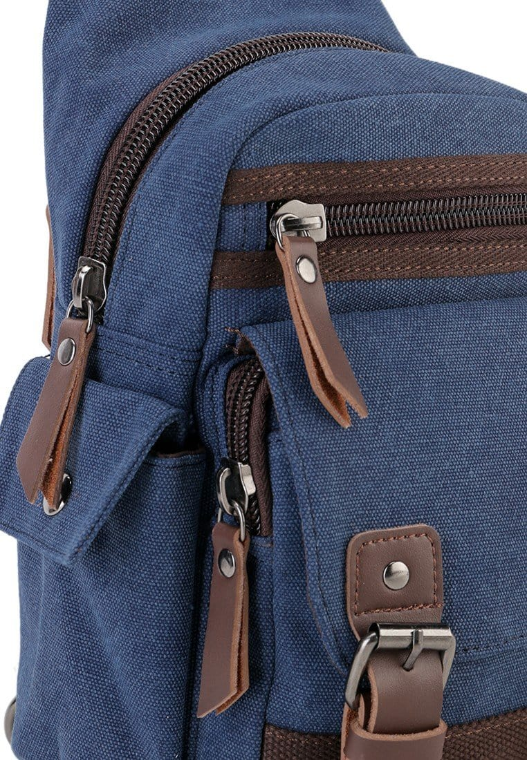 Canvas PU Utility Slingbag - Navy Slingbags - Urban State Indonesia