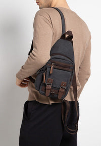 Canvas PU Utility Slingbag - Black Slingbags - Urban State Indonesia
