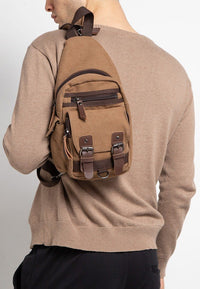 Canvas PU Utility Slingbag - Brown Slingbags - Urban State Indonesia