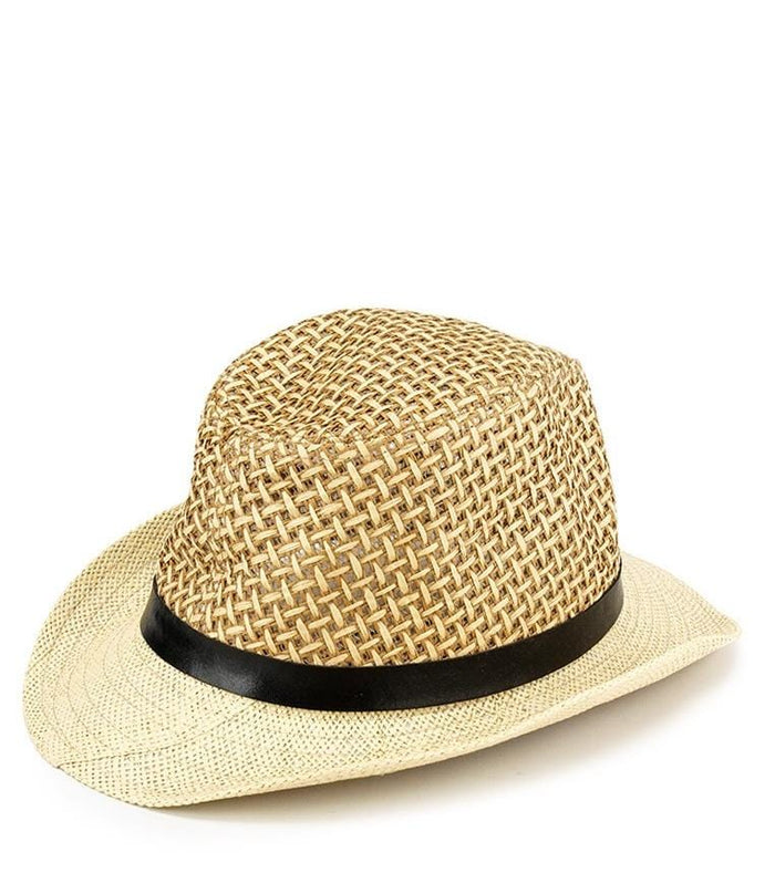 Contrast Crochet Fedora Hat - Cream Fedora Hat - Urban State Indonesia