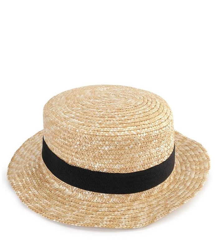 Straw Boater Hat - Beige Fedora Hat - Urban State Indonesia