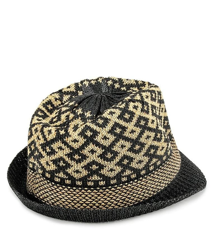 Wool Crochet Trilby Hat - Black Fedora Hat - Urban State Indonesia