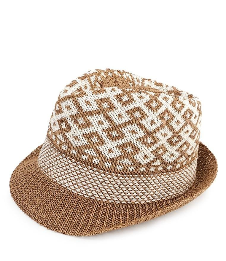 Wool Crochet Trilby Hat - Brown Fedora Hat - Urban State Indonesia