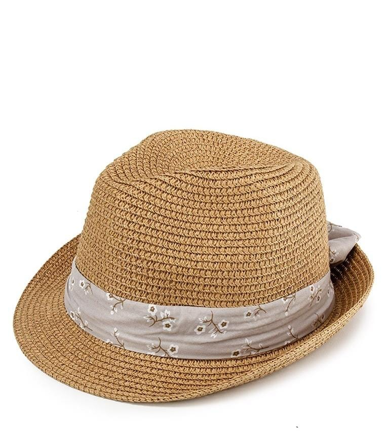 Floral Band Fedora Hat - Brown Fedora Hat - Urban State Indonesia