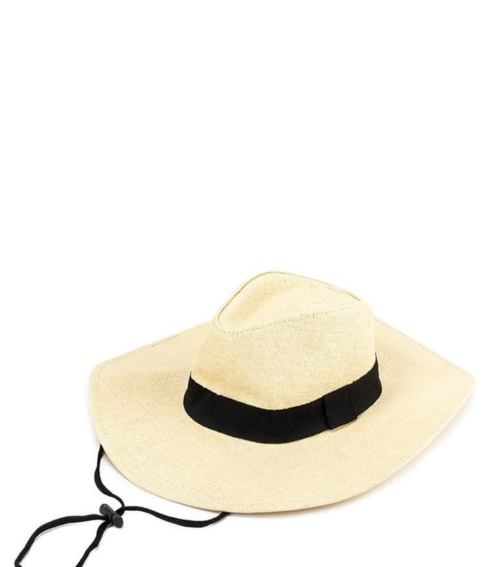 Wide Brim Cowboy Hat - Cream