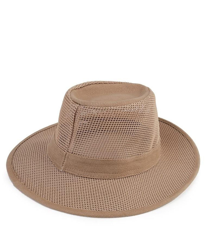 Cotton Perforated Fedora Hat - Brown Fedora Hat - Urban State Indonesia