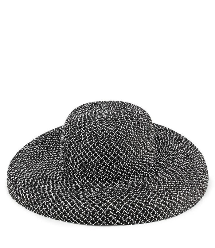 Crochet Wide Sunhat - Black Fedora Hat - Urban State Indonesia