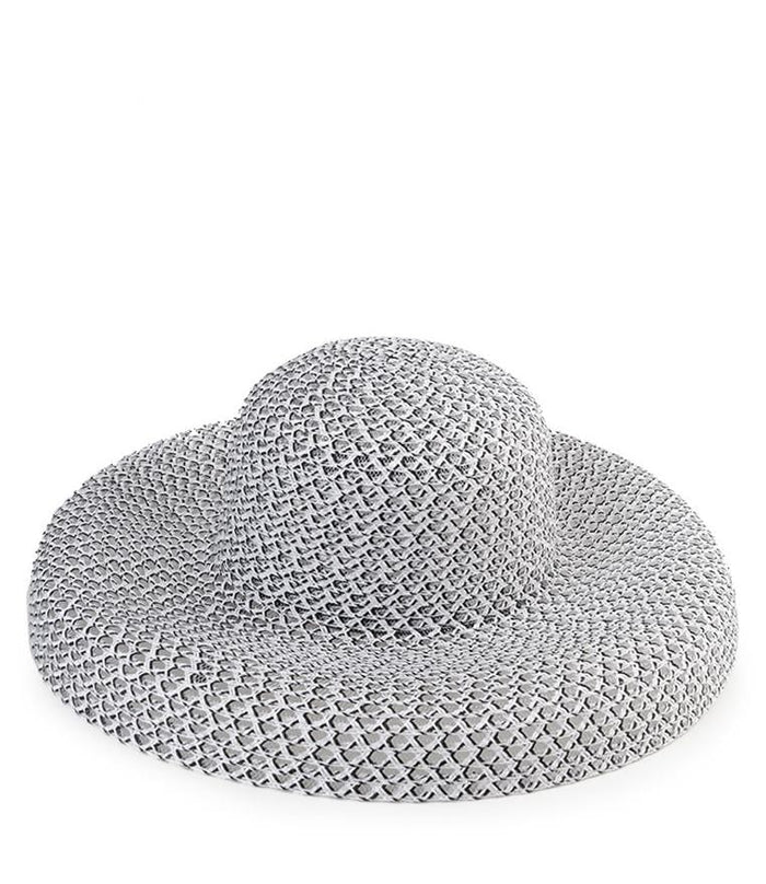 Crochet Wide Sunhat - White Fedora Hat - Urban State Indonesia