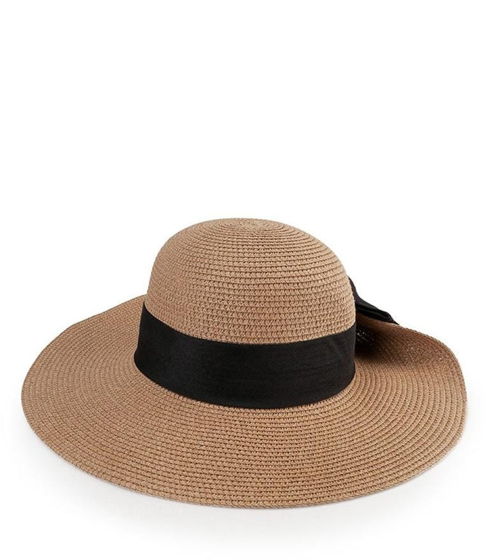 Bowknot Floppy Hat - Brown Floppy Hat - Urban State Indonesia