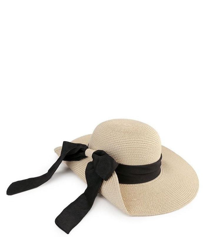 Bowknot Floppy Hat - Cream Floppy Hat - Urban State Indonesia